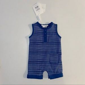 NWT Petit Lem Firsts blue and white onesie 3m